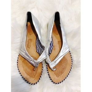Naughty Monkey silver sandals - size 7.5